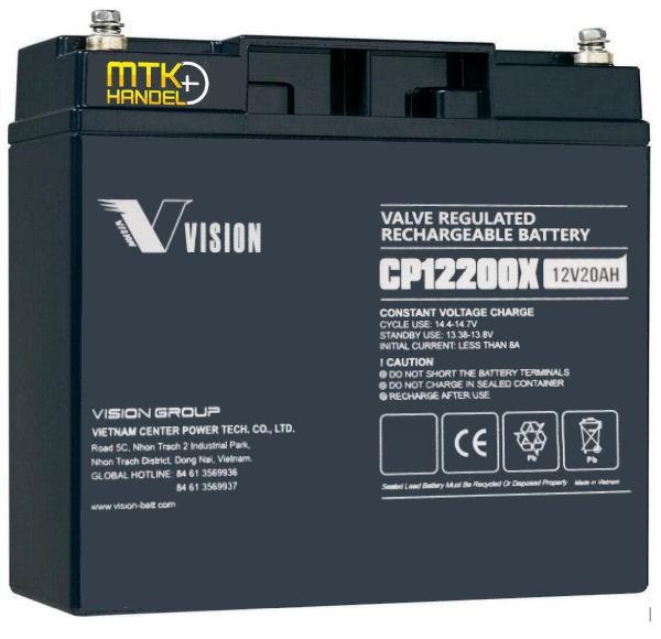 VISION CP12200X / 12V 20Ah