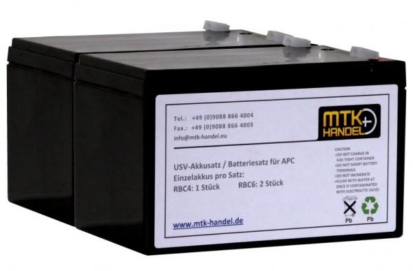 (06) APC RBC6 kompatibler Akkusatz