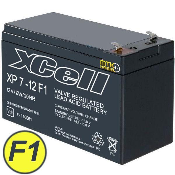 XCell XP7-12 12V 7Ah F1 AGM Blei Akku Batterie VdS