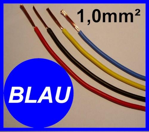 Kupferlitze 1,0mm² GRUNDPREIS 0,41 EURO/m Blau