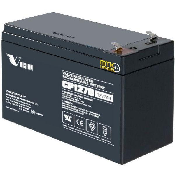 VISION CP1270 / 12V 7Ah AGM Blei Akku Batterie VDS F1