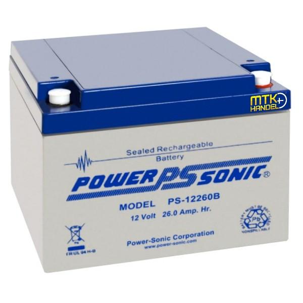 POWERSONIC PS 12260B / 12V 26Ah VdS